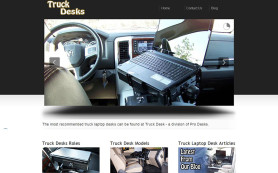truck laptop computer desk