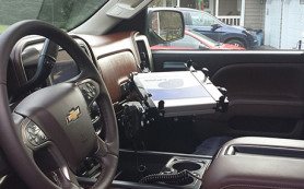 chevy truck laptop mount